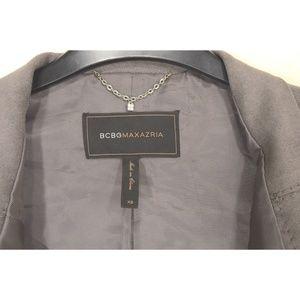BCBGMaxAzria Jackets & Coats - BCBGMAXAZRIA jacket SZ XS gray faux suede lined ch